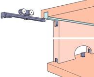 Ferrements pour portes coulissantes EKU-CLIPO 16 HM, Inslide