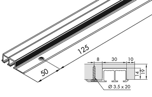 Rail double EKU-CLIPO 16