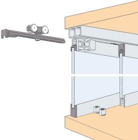 Ferrements pour portes coulissantes EKU-CLIPO 16 GPK Inslide