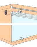 Ferrements pour portes coulissantes EKU-Clipo 36 G, Inslide