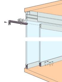 Ferramenta per ante scorrevoli HAWA Clipo 36 GPPK, Inslide / vetro fisso
