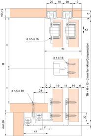 Ferrements pour portes coulissantes EKU-CLIPO 26 H, Mixslide