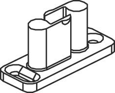 Schiebetürbeschläge EKU-CLIPO 35 HMB, Inslide