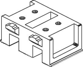 Ferrements pour portes coulissantes EKU-CLIPO 25 H, Inslide