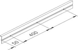 Profil porte-verre fixe EKU