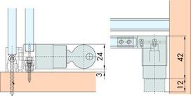 Système de fermeture EKU, sans cylindre