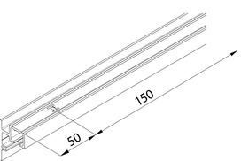 Rails EKU Clipo 36 GPPK vitre fixe