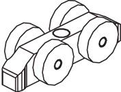 Schiebetürbeschläge EKU-Clipo 35 G, Inslide