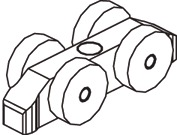 Ferramenta per ante scorrevoli EKU-Clipo 35 G, Inslide