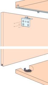 Ferramenta per porte scorrevoli EKU-CLIPO 16 H, Forslide