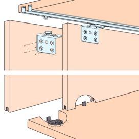 Ferrements pour portes coulissantes EKU-CLIPO 16 H, Inslide / Forslide