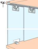 Ferrements pour portes coulissantes EKU-CLIPO 16 GK, Inslide