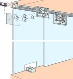 Ferrements pour portes coulissantes EKU-CLIPO 16 GS, Inslide