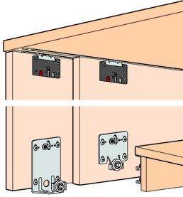 Schiebetürbeschläge EKU-Combino 45 H, Mixslide