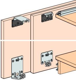 Ferrements pour portes coulissantes EKU-Combino 45 H, Forslide