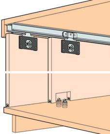 Ferrements pour portes coulissantes EKU-COMBINO 35 H, Inslide
