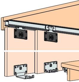 Ferrements pour portes coulissantes EKU-COMBINO 35 H, Mixslide
