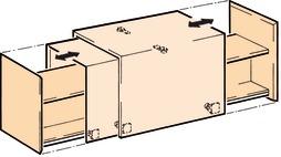 Ferrements pour portes coulissantes EKU-COMBINO U 50, Forslide