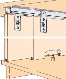Ferrements pour portes coulissantes EKU-COMBINO 60 H, Inslide