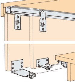 Ferrements pour portes coulissantes EKU-COMBINO 60 H, Mixslide