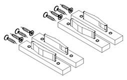 Capuchons de recouvrement pour profil d'insertion de base