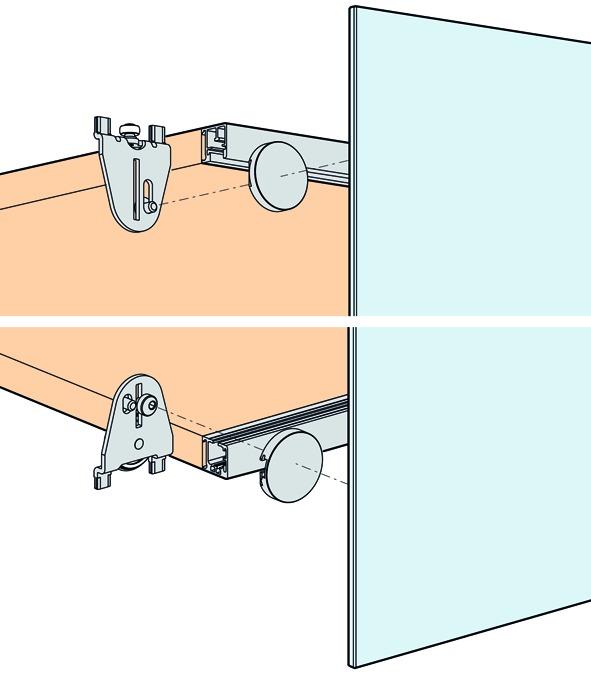 Ferrements pour portes coulissantes EKU-REGAL B 25 GK, Forslide