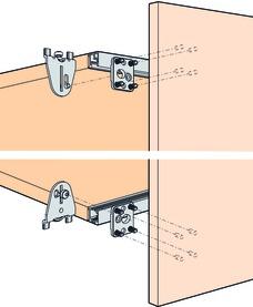 Schiebetürbeschläge EKU-REGAL B 25 H/SP, Forslide