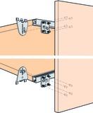 Ferrements pour portes coulissantes EKU-REGAL B 25 H/SP, Forslide