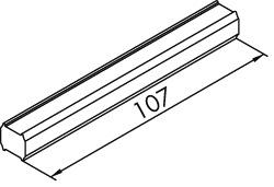 Distanzstück für 2 Türen auf einer Ebene