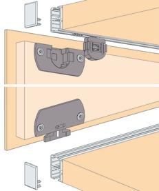 Ferrements pour portes coulissantes EKU-REGAL C 16 H, Inslide/Forslide