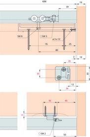Ferrements pour portes coulissantes EKU-REGAL C 26 HM, Inslide