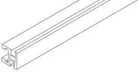 Glas-Rahmenprofile EKU-CLIPO 26 GR, Inslide