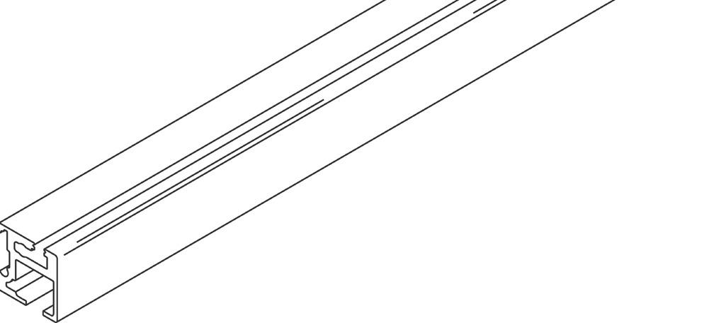 Rail de roulement simple et de guidage, à clipser