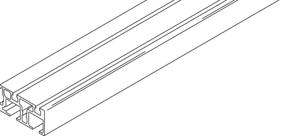 Rail double de roulemen et de guidage à clipser