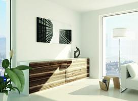 Ferrements pour portes couliss. EKU-FRONTINO 20, FS, à fleur avec la façade