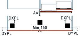 Ferramenta per porte scorrevoli Slider M 35, tipo A43, Forslide, frontale a filo