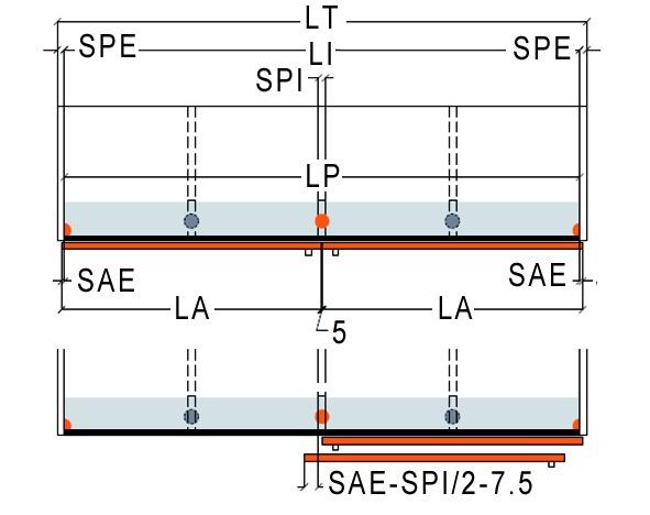 Ferramenta per porte scorrevoli Slider L 70, tipo 2 B17, Forslidefrontale a filo