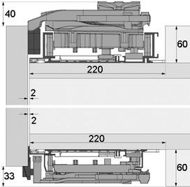 Ferrements pour portes coulissantes PLANO, Forslide, à fleur avec la façade