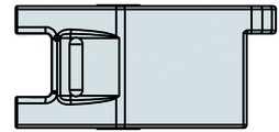 Guida per carrello scorrevole destra / sinistra