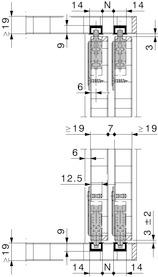 Ferramenta per ante scorrevoli HAWA-Miniroll 15/25, Inslide, 2 ante