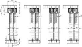 Schiebetürbeschläge HAWA-208 Inslide 40/70