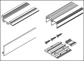 Kit di rotaie per HAWA-Antea 50/80, Forslide