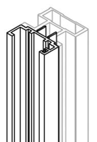 Schiebetür-Zusatzprofil ALPHA