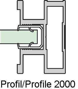 Ferramenta per ante scorrevoli ALPHA 2000/2100/2400/2500