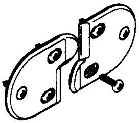 Elemento per tenere le ante a filo HAWA Multifold 30 / 30/W
