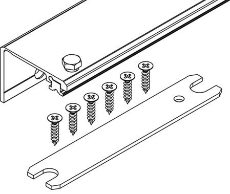 Profilo di collegamento Connector larghezza 55 mm, HAWA-Concepta