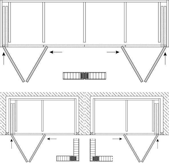 Falt-Drehschiebetürbeschläge HAWA-Folding Concepta 25