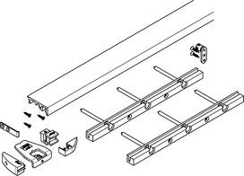 Profilo parapolvere 1300 mm HAWA Folding Concepta
