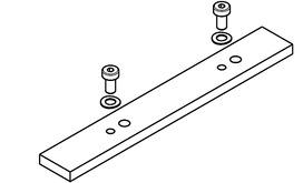 Piastra di congiunzione alla rotaia HAWA Folding Concepta