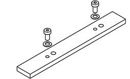 Verbindungsplatte zu Laufschiene HAWA Folding Concepta